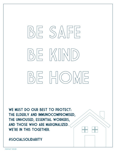 Be Safe Be Kind Be Home - Coloring Book.